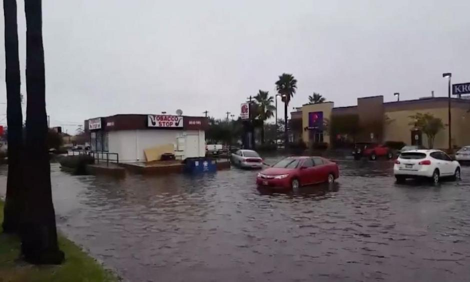 Galveston County, Texas has received almost 10 inches of rain from Friday evening to Saturday afternoon, and a lot more rain is in the forecast. Photo: The Weather Channel