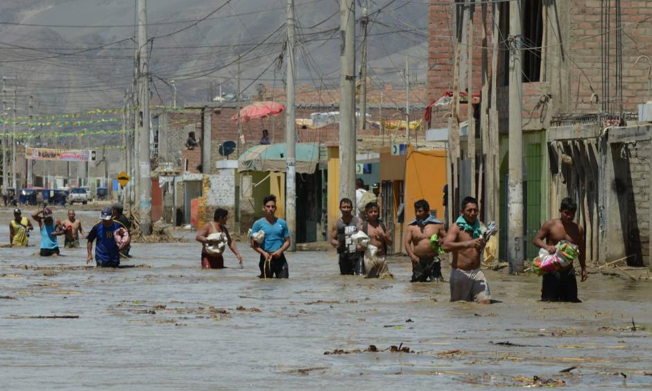 Flooding in Peru has left tens of thousands of people homeless, following the global trend of extreme weather made more likely by climate change. Photo: Getty Images