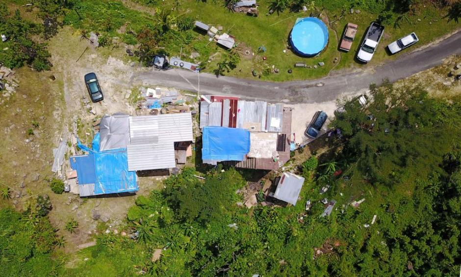 A house that was destroyed by Hurricane Maria is seen in the way of reparations six months after the hurricane affected the island in Corozal, Puerto Rico, on Sunday, March 18, 2018. Photo: Ricardo Arduengo, AFP/Getty Images