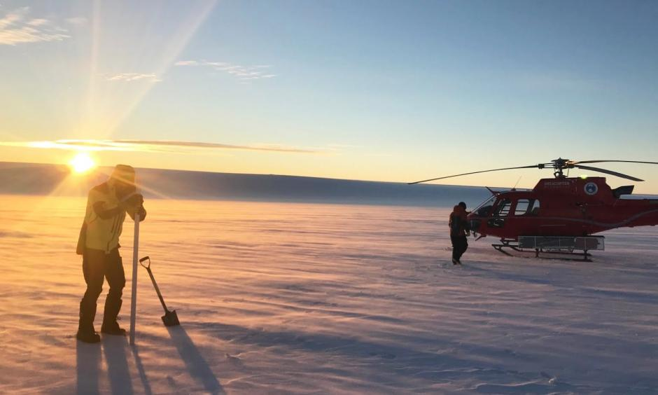 Scientists have found lakes beneath the Totten glacier. Photo: Paul Winberry, Australian Antarctic Program