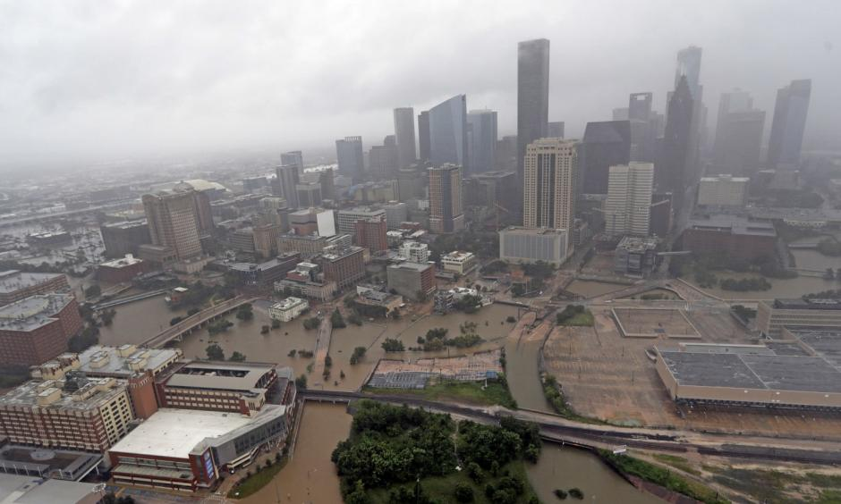Floodwaters from Harvey overflowed from the bayous around Houston in late August. Credit: David J. Phillip, AP
