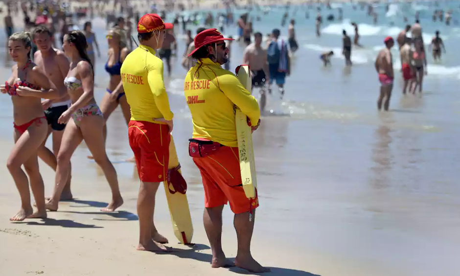 Bathers cool off at Sydney's Bondi Beach. Photo: William West/AFP/Getty Images