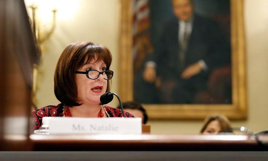Natalie Jaresko, executive director with the financial oversight and management board for Puerto Rico, speaks during a House Committee on Natural Resources hearing to examine challenges in Puerto Rico's recovery and the role of the financial oversight and management board, on Capitol Hill, Tuesday, Nov. 7, 2017, in Washington D.C. Photo: Alex Brandon, AP