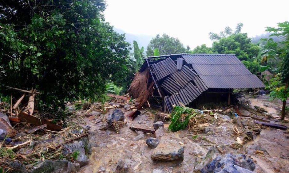 The deadliest disaster of October was Tropical Depression 23W, which made landfall over central Vietnam on October 10, triggering multiple days of torrential downpours. Photo: Nhan Sinh, Vietnam News Agency via AP