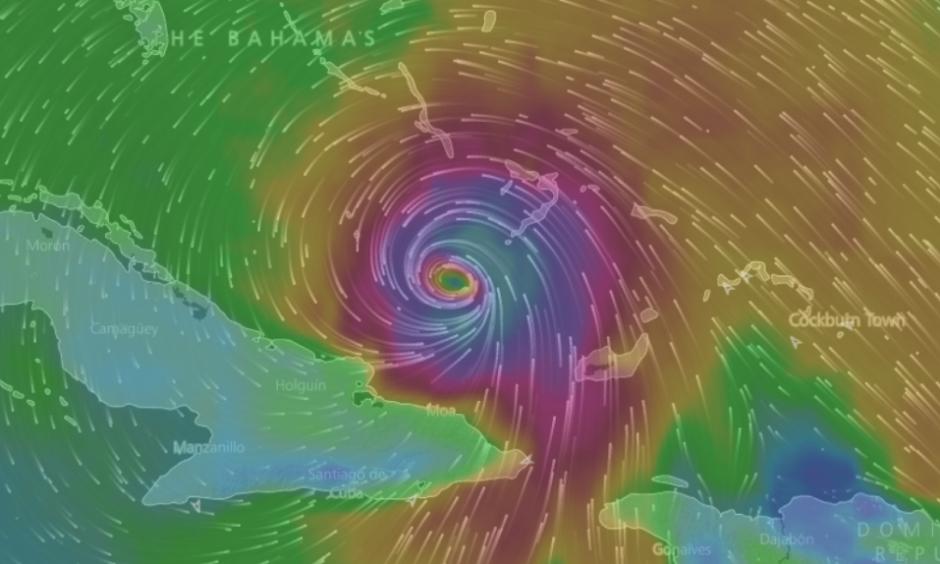 Hurricane Matthew analysis. Image: windyty.com