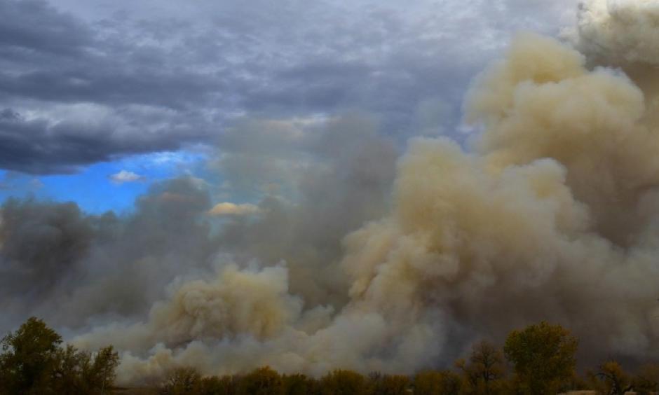 Smoke from a 2016 wildfire in South Dakota. Photo: orientalizing, Flickr