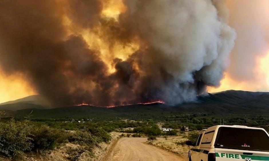 Smoke rises from the Goodwin Fire, which burned more than 28,000 acres in Arizona through mid-July. Photo: Prescott National Forest, flickr