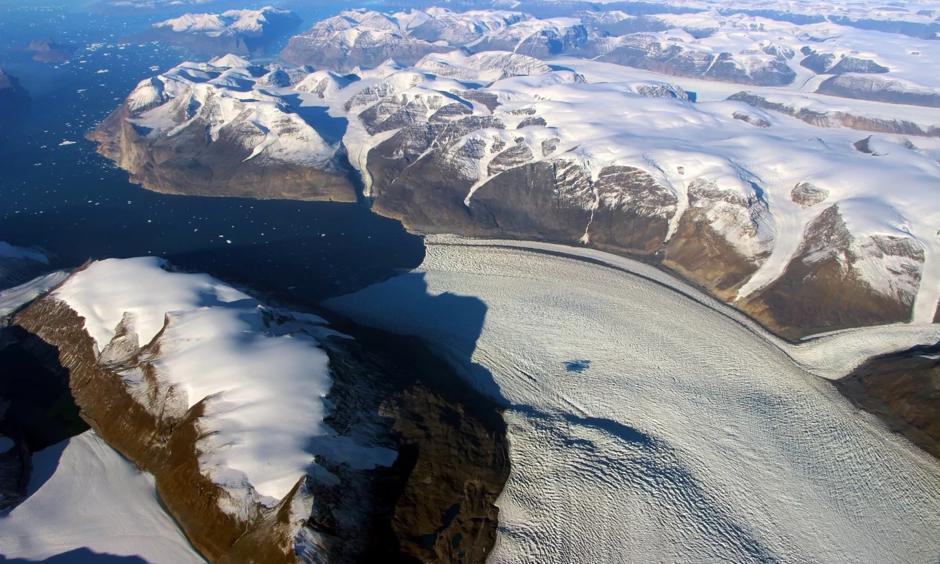 Rink Glacier on Greenland's west coast. Photo: John Sonntag, NASA