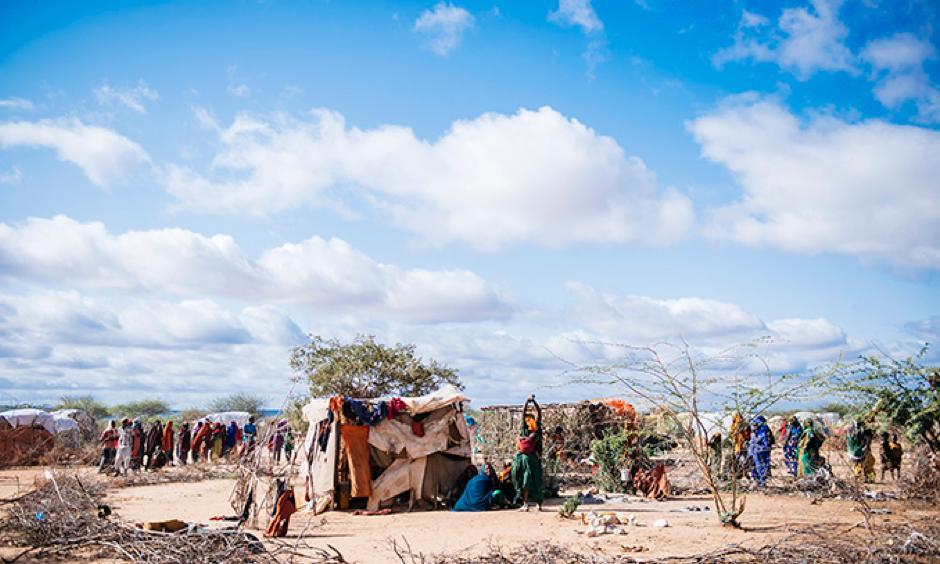 A new IDP camp at Dollow, Somalia, that is composed of new internally displaced people from Bay and Bakool. Photo: Amunga Eshuchi, Trocaire