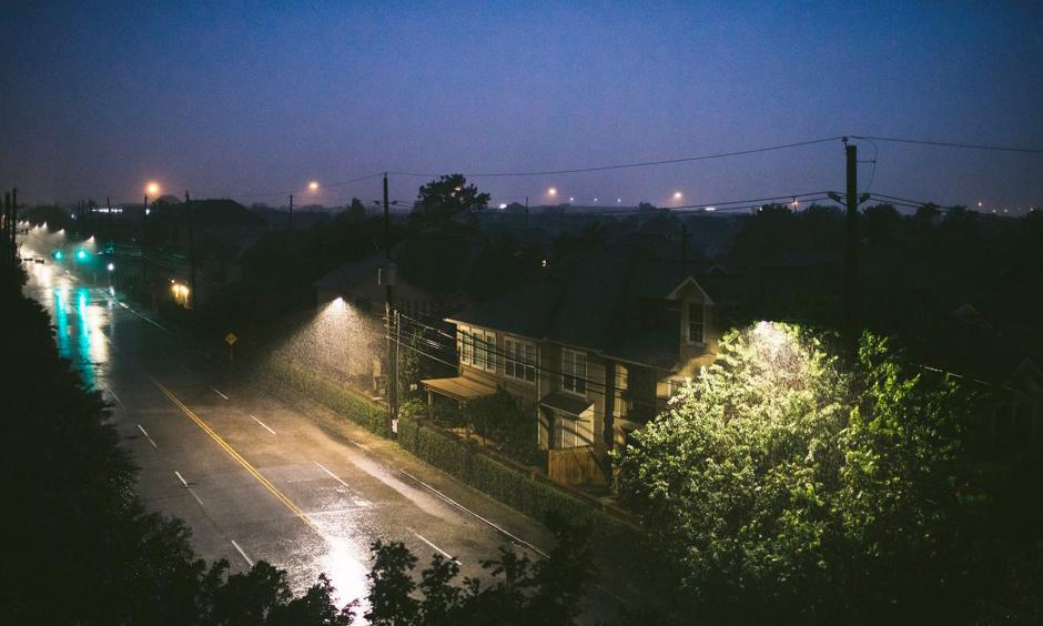 A downpour in Houston on Friday night. Photo: Alyssa Schukar, The New York Times