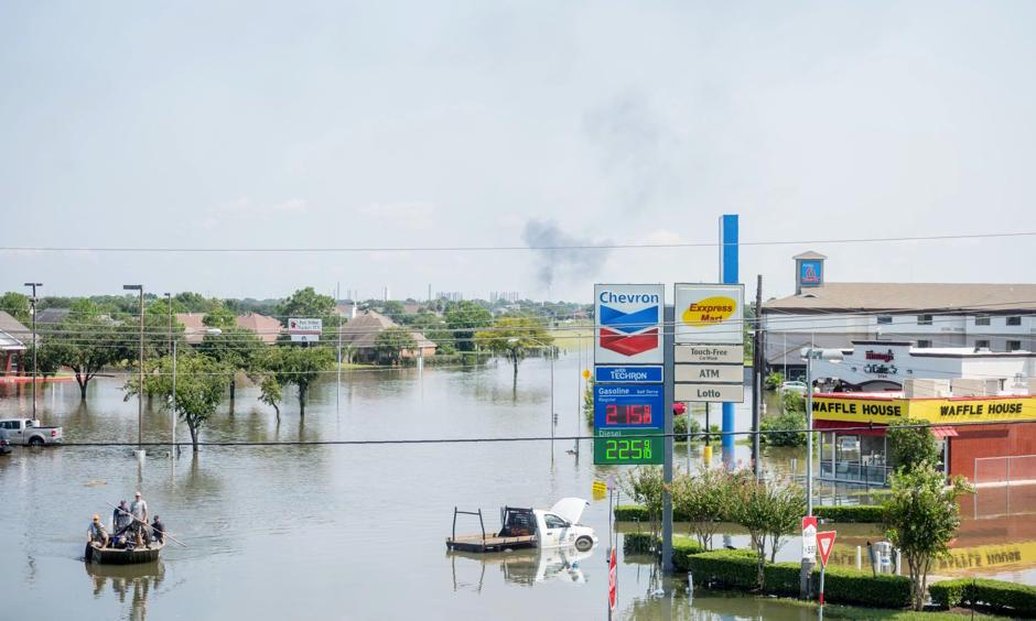 Rescue crews assist residents in Port Arthur, Texas on Thursday, September 1 2017. Photo: Emily Kask, AFP/Getty Images
