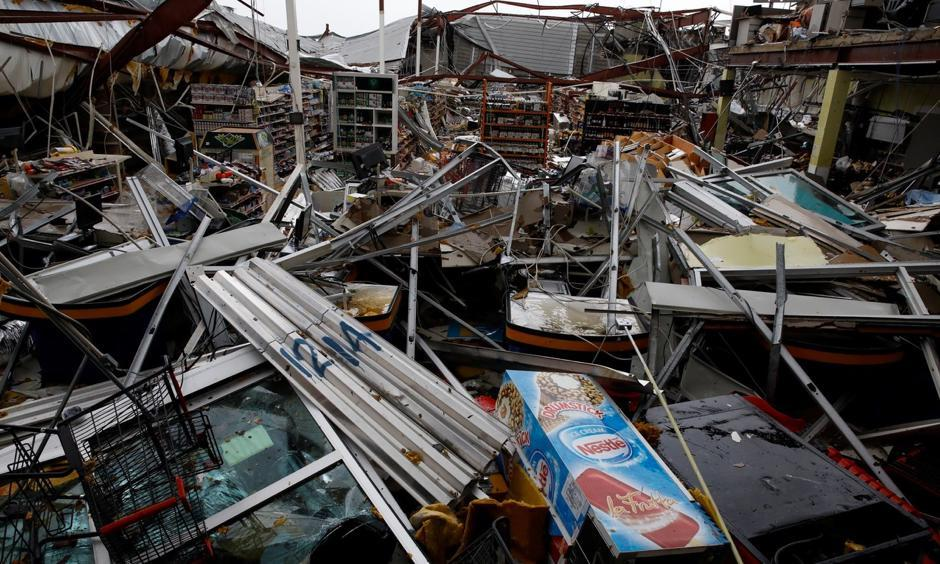 A supermarket in Guayama, Puerto Rico lay in ruins after the area was hit by Hurricane Maria. Carlos Garcia Rawlins, Reuters
