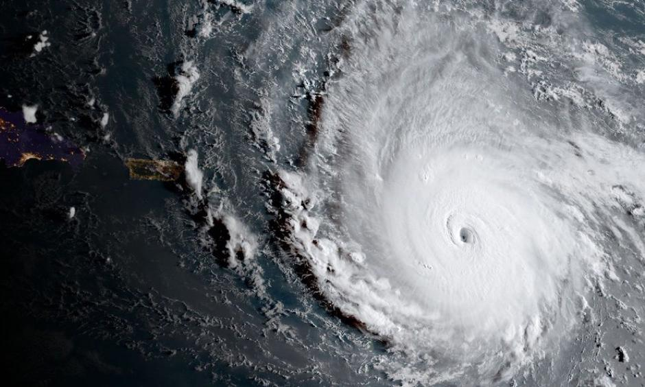 A NOAA satellite image shows Hurricane Irma as a Category 5 hurricane on Sept. 5, 2017. Image: NOAA