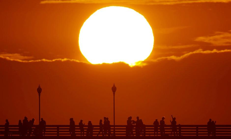 An early-July heatwave broke temperature records across Southern California. Photo: Mike Blake, Reuters