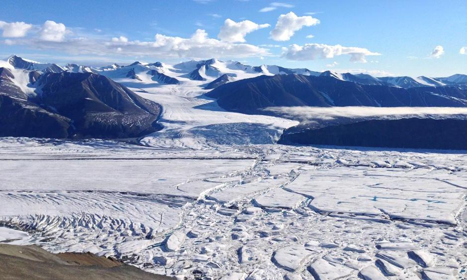 The study Canada's high Arctic circle found glaciers shrank by more than 1,700 sq km over a 16-year period, equivalent to a 6% loss. Photo: Luke Copland