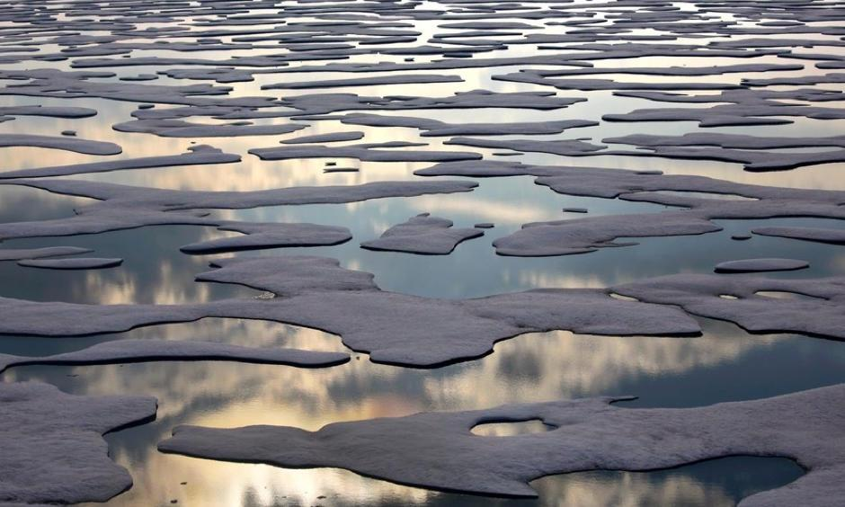 Melting sea ice in the Canadian Arctic. Photo: David Goldman, AP/Rex/Shutterstock
