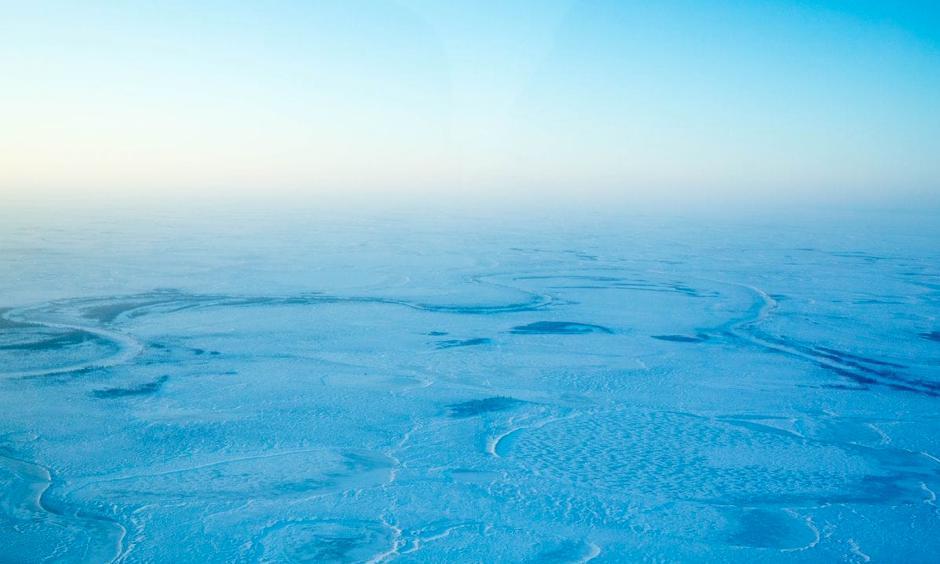 The frozen tundra west of Tuluksak, Alaska on Saturday, Jan. 21, 2017. Photo: Loren Holmes, Alaska Dispatch News
