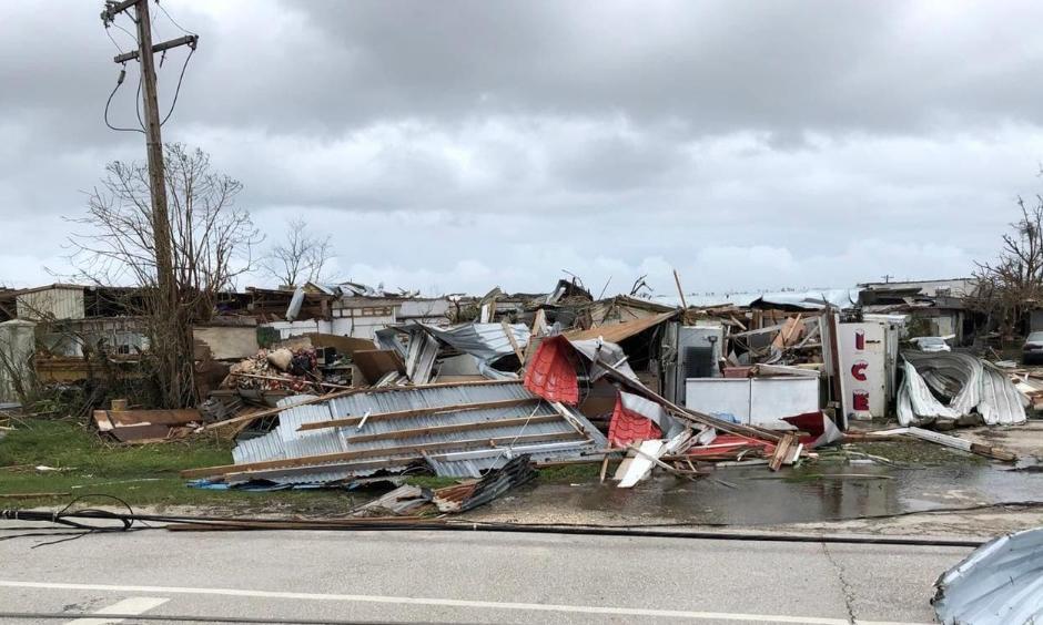 Roadside debris in Saipan after Super Typhoon Yutu. Photo: Jose Mafnas