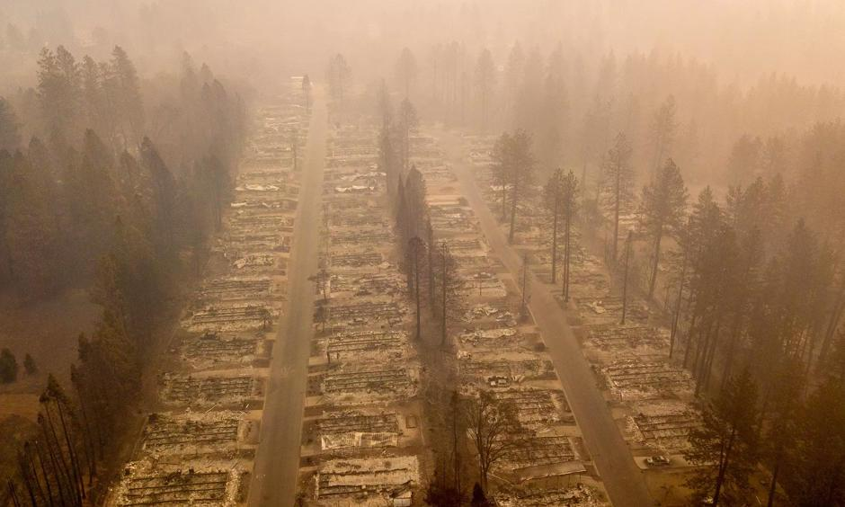 A burned neighborhood in Paradise, California. Photo: Josh Edelson, AFP/Getty Images