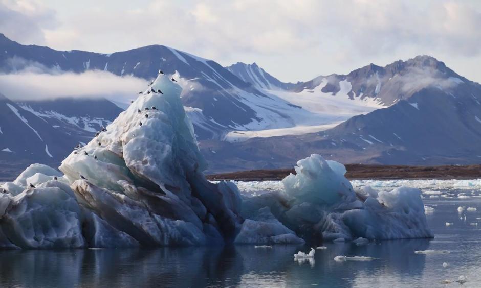 Melting glacier in Svalbard, Norway. Photo: Goncalo Diniz, Alamy/Alamy