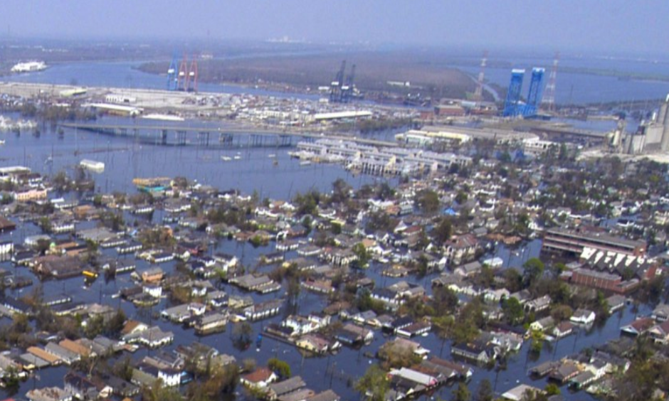 New Orleans after Hurricane Katrina. Photo: United States Navy
