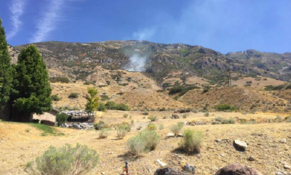 The Mahogany Fire broke out and consumed about two acres Monday, Sept. 5, 2016, in Utah County. Photo: USDA Forest Service