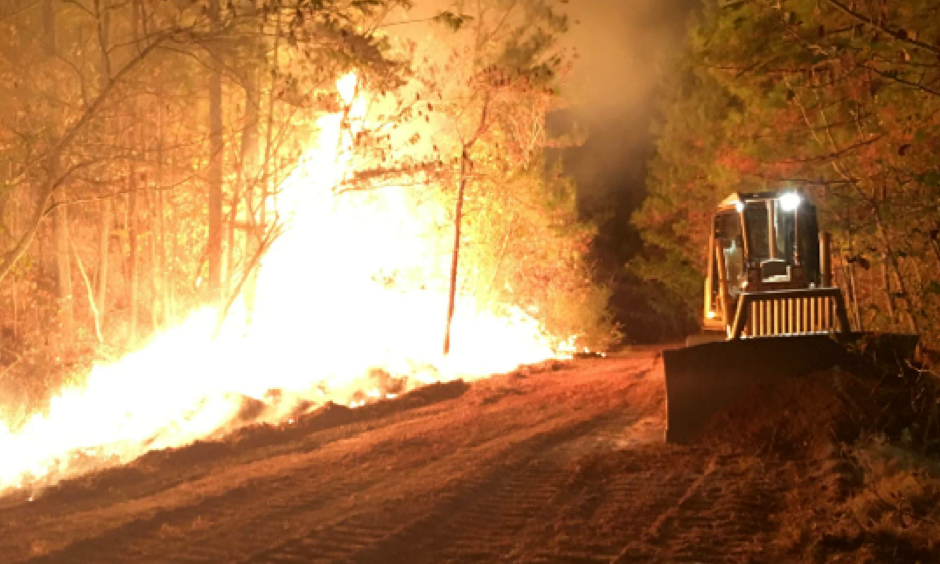 The Alabama Forestry Commission uses many methods to try to contain wildfires, such as installing fire lanes. Photo: Dothan Eagle