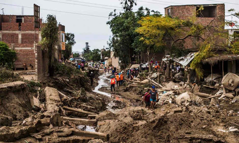 El Niño-fuelled flash floods and landslides hit parts of Lima last month. Photo: Ernesto Benavides, AFP, Getty