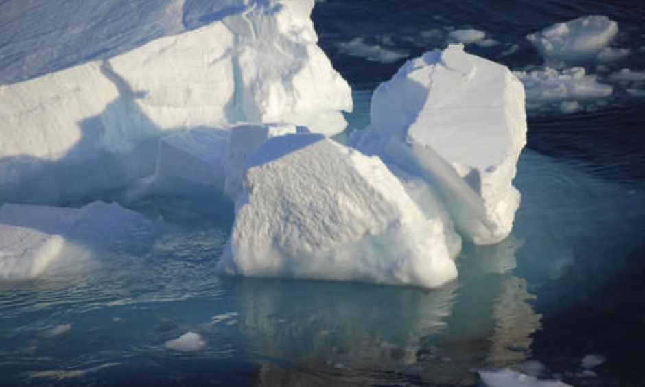 Ice floats in the Arctic near Svalbard, Norwary. Photo: Dirk Notz via AP
