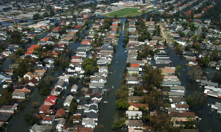 New Orleans the week after Katrina hit landfall. Photo: Liz Roll, FEMA