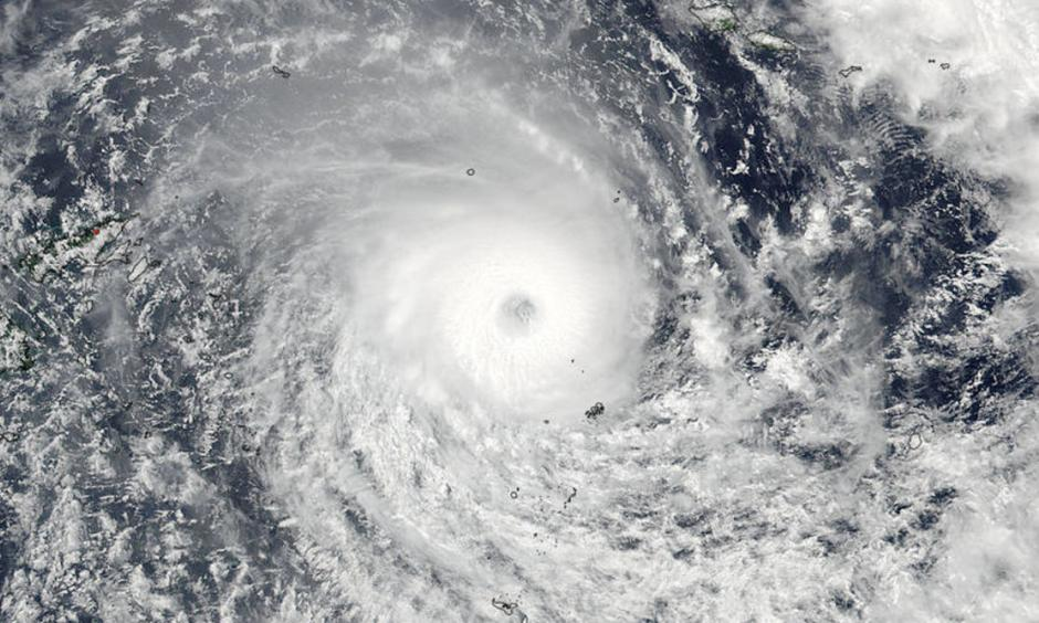 Tropical Cyclone Winston nears Fiji on February 20, 2016. Image: NASA Goddard Rapid Response/NOAA