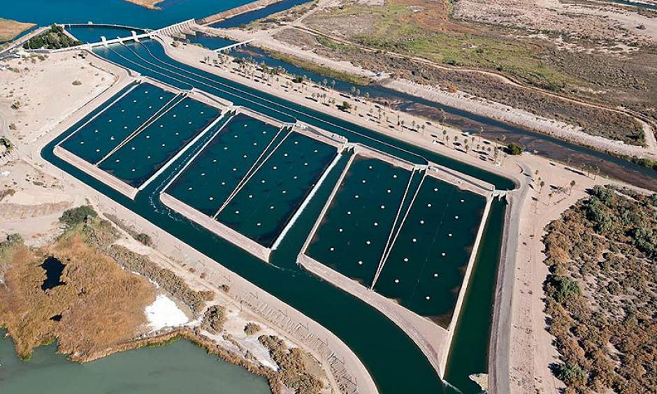 The Imperial Dam and the All-American Canal System, located in the southeastern corner of California, includes the Imperial Diversion Dam and Desilting Works, the 80-mile-long All-American Canal, the 123-mile-long Coachella Canal and appurtenant structures. Photo: Andy Pernick, Bureau of Reclamation/Flickr