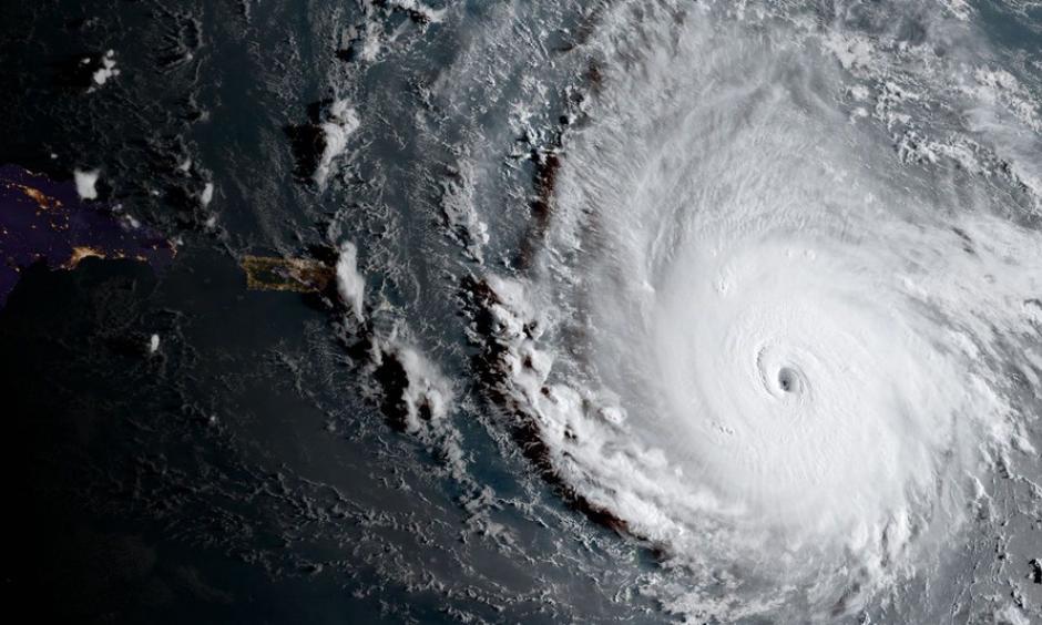 Hurricane Irma east of Puerto Rico on Sept. 5, 2017. Image: NOAA