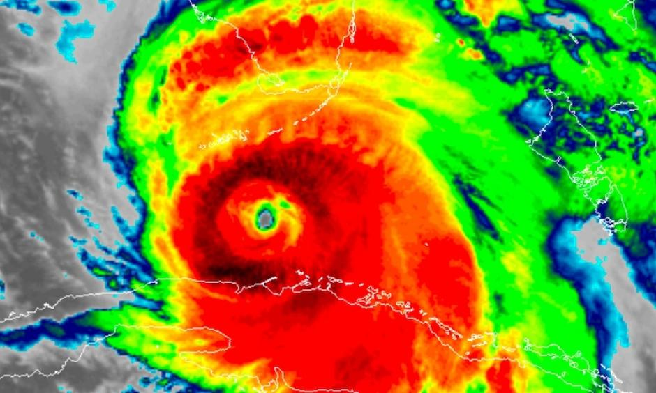 Infrared GOES-16 satellite image of Hurricane Irma as of 2:31 am EDT Sunday, September 10, 2017. GOES data are preliminary and non-operational. Image: RAMMB / CIRA@CSU