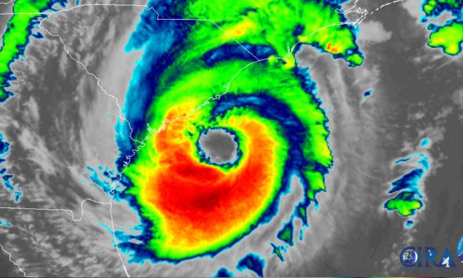 Hurricane Dorian approaches the Carolinas on Sept. 5, 2019. Image: NOAA via CIRA/RAMMB