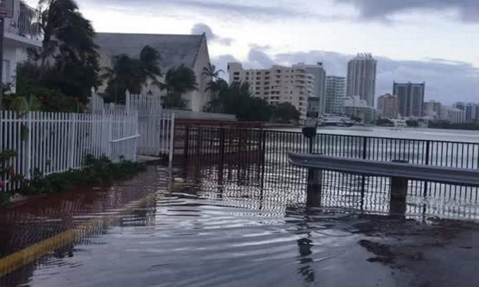 The annual king tides are rising in South Florida, causing some flooding in coastal areas. Photo: Joey Flechas