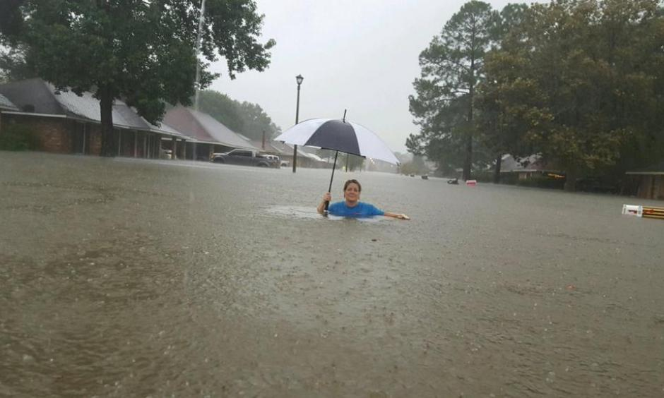 Major flooding in Prarieville, Louisiana on Friday, August 12, 2016. Photo: @presleygroupmk/twitter.com