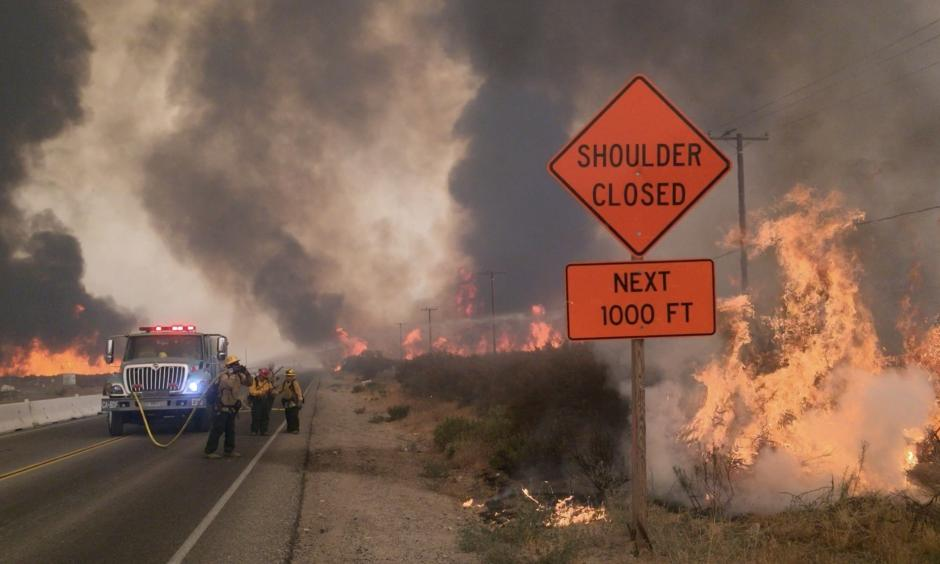 Raw video from Blue Cut fire near the Cajon Pass. Photo: Los Angeles Times