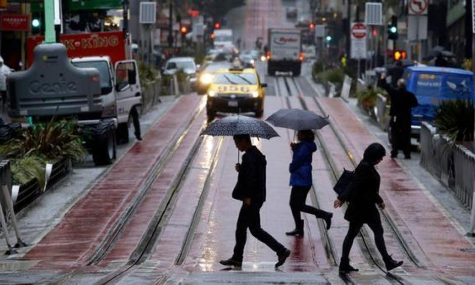 Heavy rains in Northern California this fall have eliminated drought conditions in much of the northern part of the state. Above, a rainy October day in San Francisco. Photo: Paul Chinn, San Francisco Chronicle