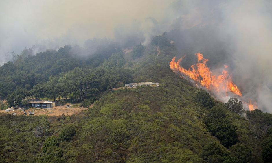 The Soberanes fire burns in Palo Colorado Canyon in the Big Sur region last week. Photo: David Royal / Monterey County Herald