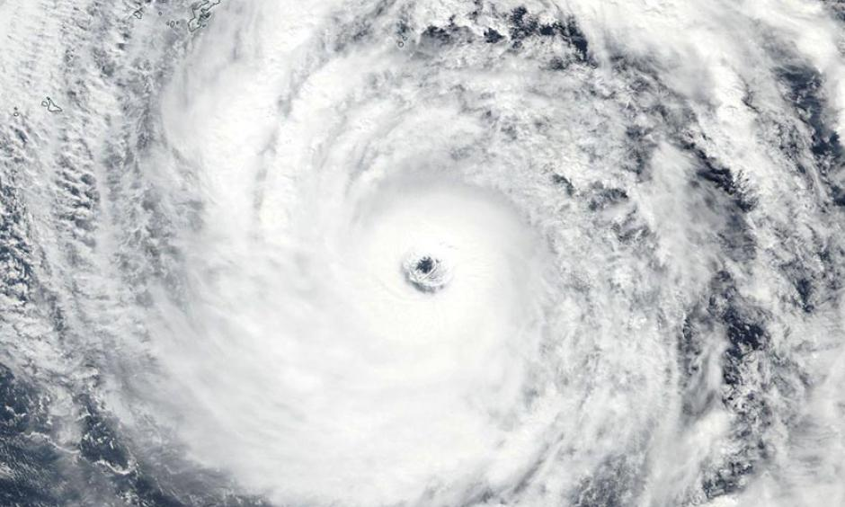 Super Typhoon Lan as seen by the VIIRS instrument on NOAA's Suomi satellite on Saturday afternoon, October 21, 2017. At the time, Lan was a high-end Category 4 storm with 155 mph winds. See also this impressive visible zoomed-in loop of Lan's eye on Saturday, courtesy of Dan Lindsey of NOAA.
