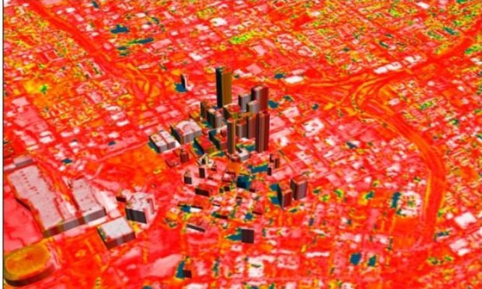 Urban heat island. Image: NASA
