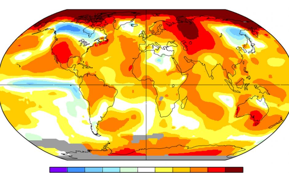 Global average surface temperature anomalies during Nov. 2017. Image: NASA GISSTEMP