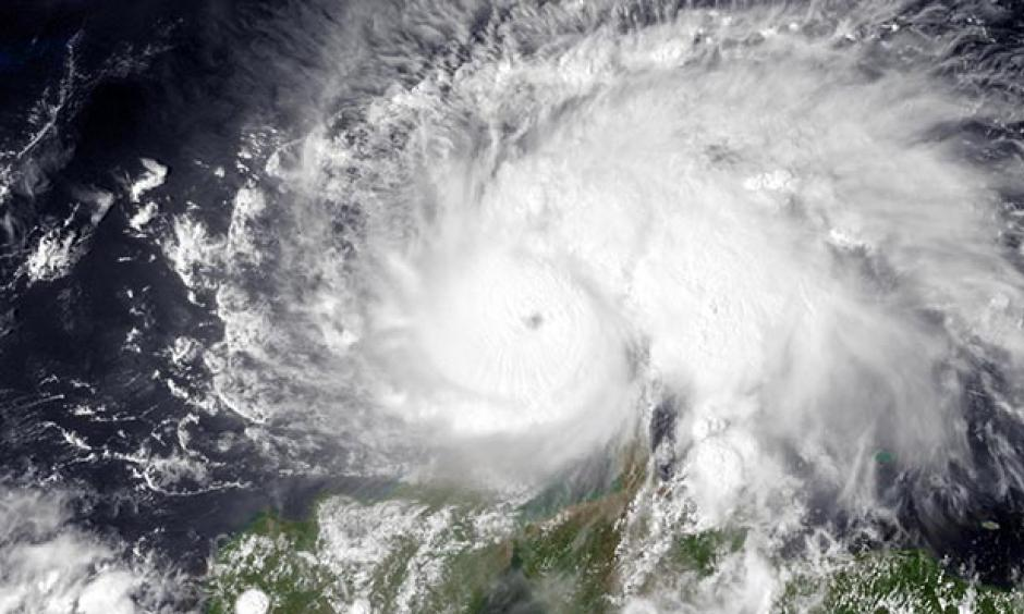 Hurricane Matthew, the strongest Atlantic hurricane of 2016, as seen on September 30, 2016, when it was rapidly intensifying into the first Category 5 storm observed in the Atlantic since 2007. Photo: NASA