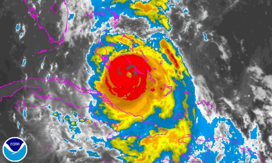 Enhanced infrared satellite image of Hurricane Matthew as of 11:15 pm EDT Wednesday, October 6, 2016. Image: NOAA/NESDIS