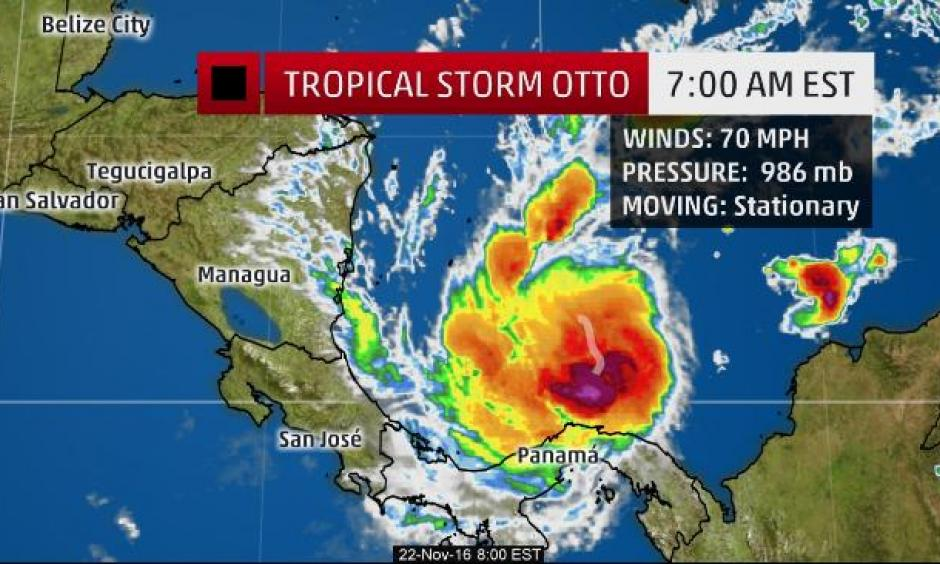 Climate Signals Tropical Storm Otto Nears Hurricane Strength