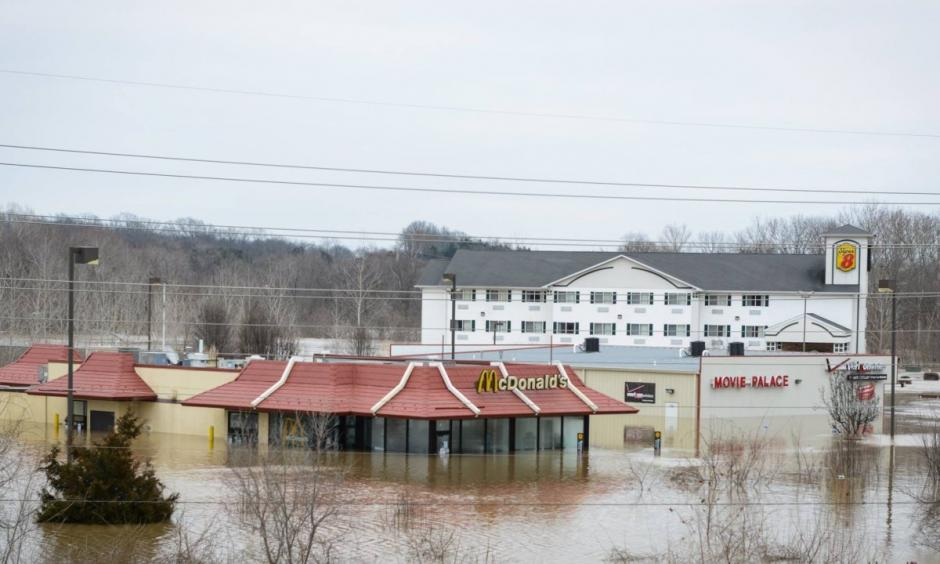 Historic flooding occurred in Missouri after a storms rumbled across the United States this week. Photo: CNN