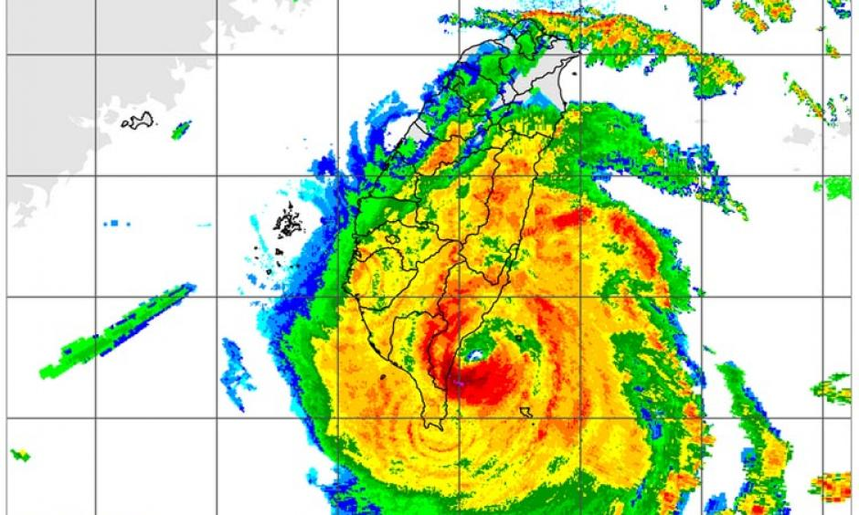 Radar image of Super Typhoon Nepartak making landfall in southeastern Taiwan taken at 5:30 pm EDT July 7, 2016 (5:30 am local time on Friday in Taiwan.) Image: Taiwan CWB