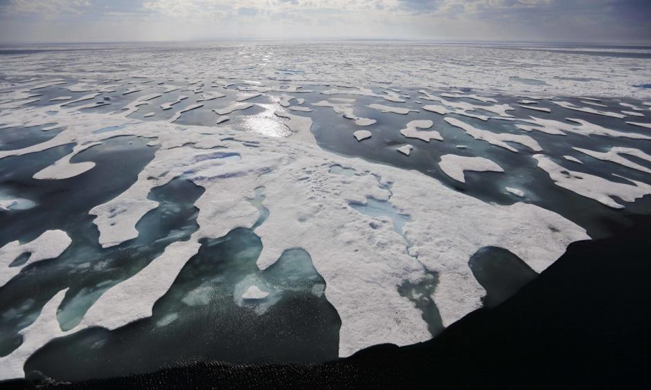 Sea ice melts on the Franklin Strait along the Northwest Passage in the Canadian Arctic Archipelago, Saturday, July 22, 2017. Because of climate change, more sea ice is being lost each summer than is being replenished in winters. Less sea ice coverage also means that less sunlight will be reflected off the surface of the ocean in a process known as the albedo effect. The oceans will absorb more heat, further fueling global warming. Photo: David Goldman, AP