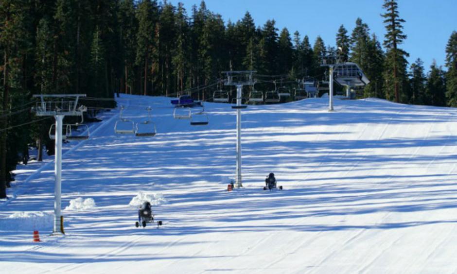 Sierra-at-Tahoe in Twin Bridges, California, had enough snow November 19, 2015 to open Nov. 20, its earliest start in 11 years. Sierra-at-Tahoe / Courtesy